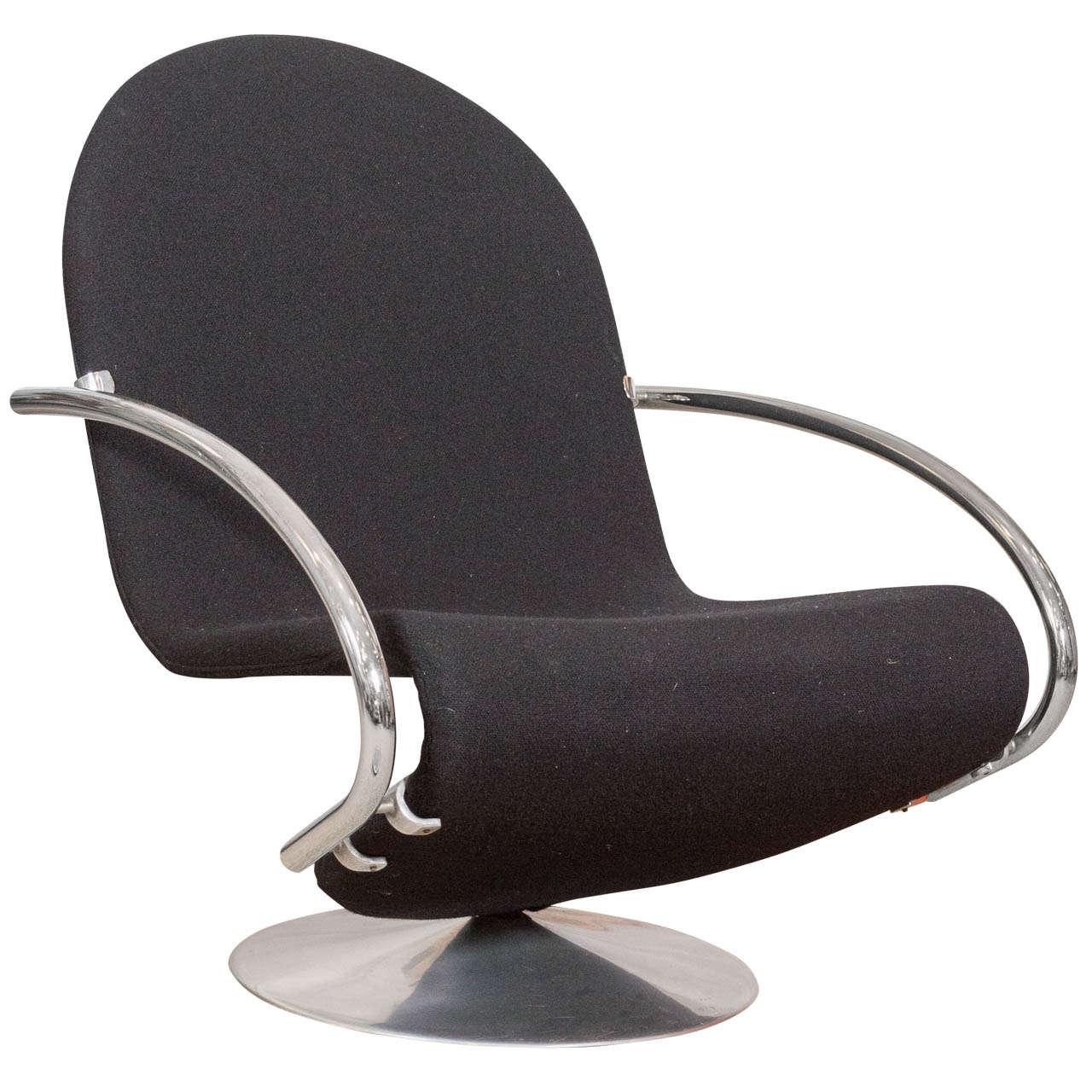 verner panton system 123 model e lounge chair for fritz hansen at 1stdibs. Black Bedroom Furniture Sets. Home Design Ideas