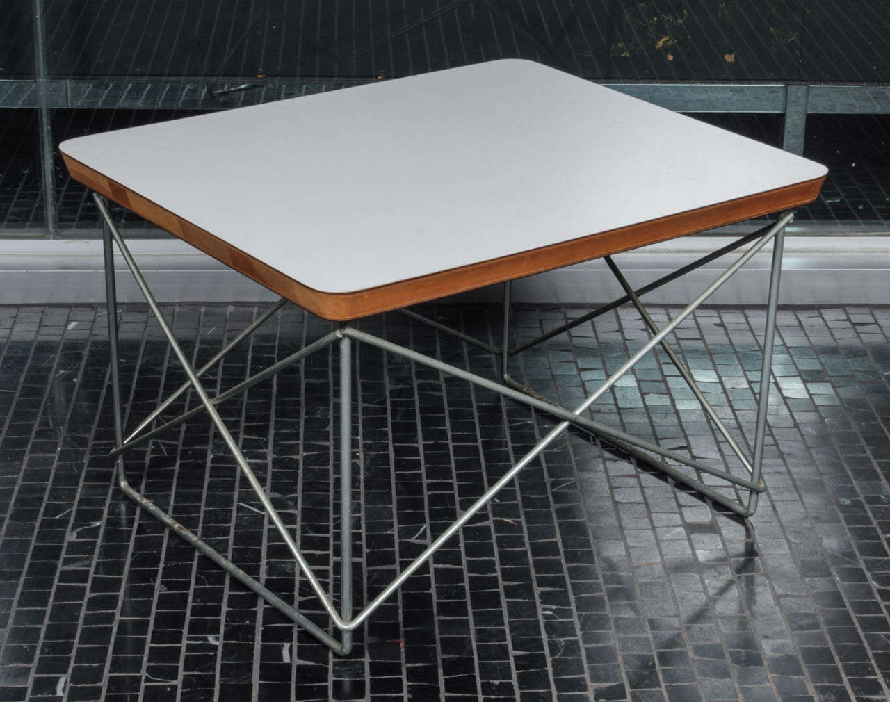 Charles Eames Ltr In White Laminate And Zinc At 1stdibs
