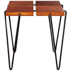 Rare stool/table by Harold Cohen & Davis Pratt, circa 1951