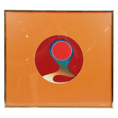 "Abstract Color Relief Titled ""Inner Orb"" by Carolyn Carlson"