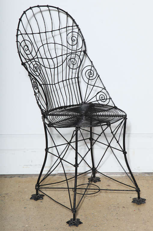 Set Of 4 French Victorian Wire Chairs For Sale At 1stdibs