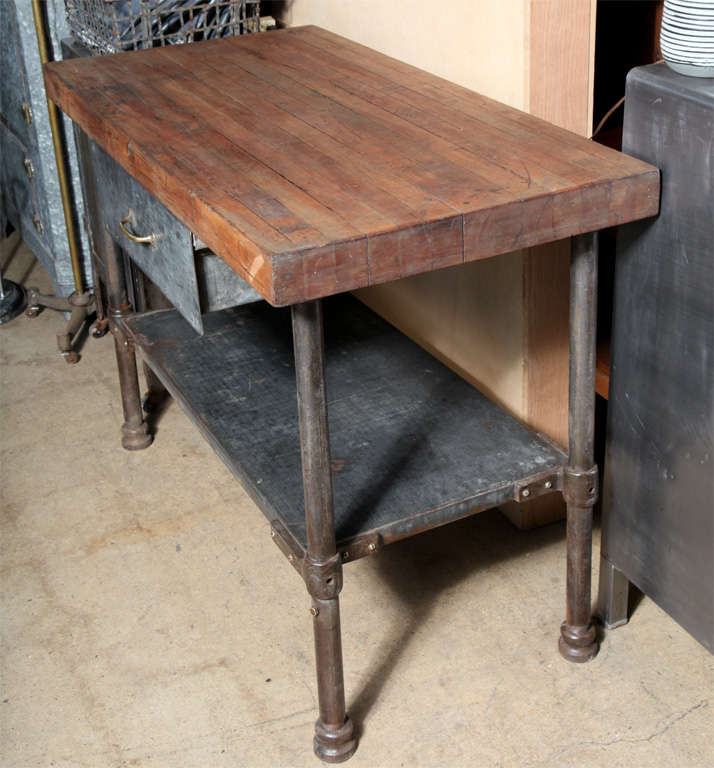 American Vintage Industrial Kitchen Work Table