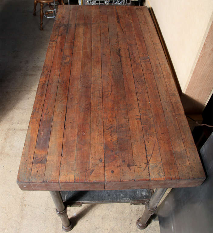 Vintage Industrial Kitchen Work Table At 1stdibs