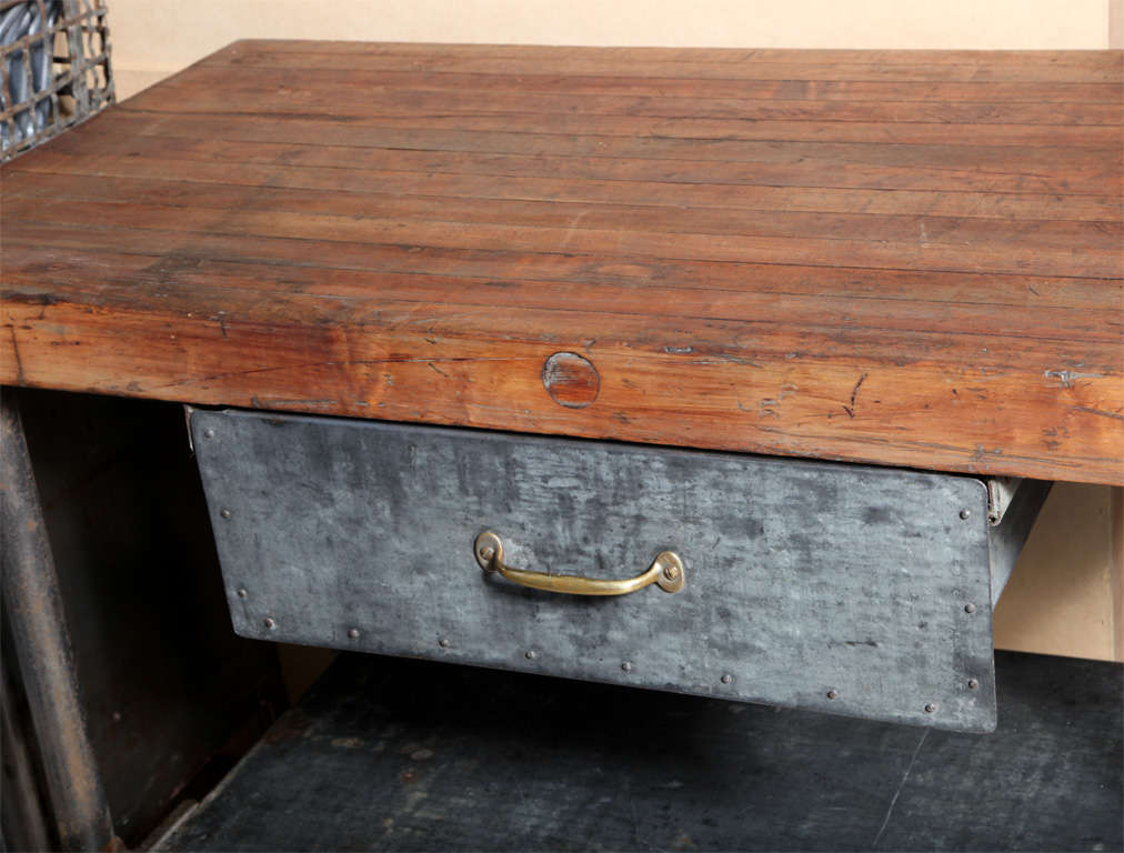 Vintage Industrial Kitchen Work Table 3