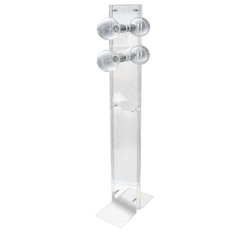 Lucite Standing Lamp, Attributed to Charles Hollis Jones