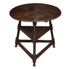 Early 18th c. Welsh Oak Cricket Table