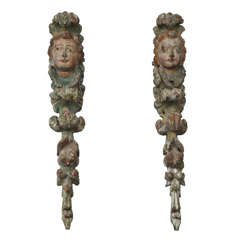 Pair of 18th Spanish Baroque Garlands