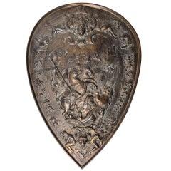 19th Century Antique Bronze Shield