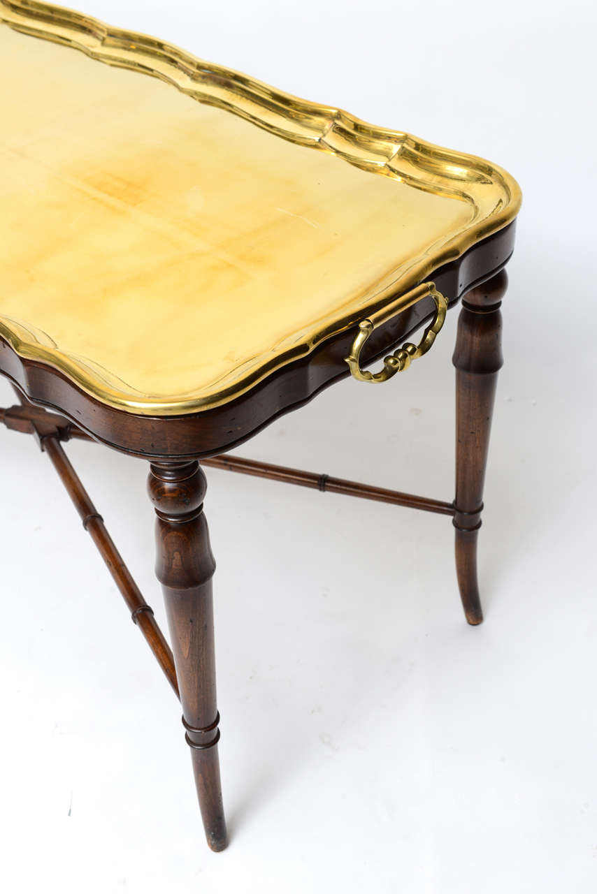 classical cocktail table with brass tray at 1stdibs. Black Bedroom Furniture Sets. Home Design Ideas