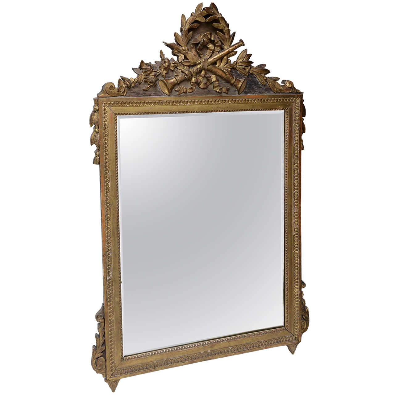 Louis XVI Neoclassical Giltwood Mirror For Sale