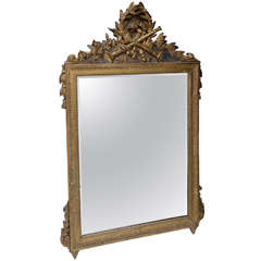 Louis  XVI Neoclassical Gilt Wood Mirror