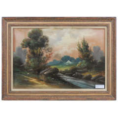 19th Century English Pastel on Paper Signed Ward