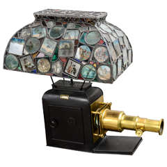 Leaded Glass Projector Lamp