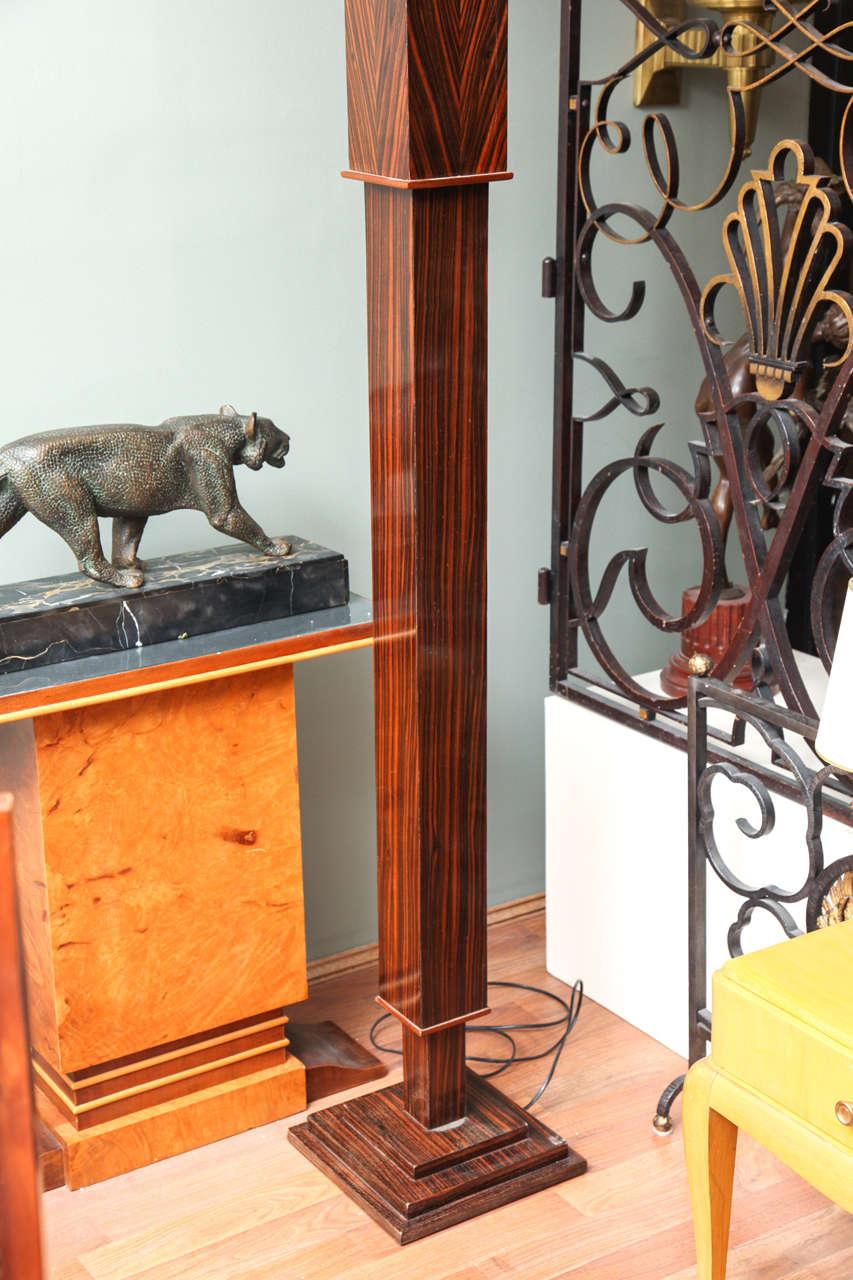 Pair of Tall Art Deco Macassar Torcheres For Sale 2