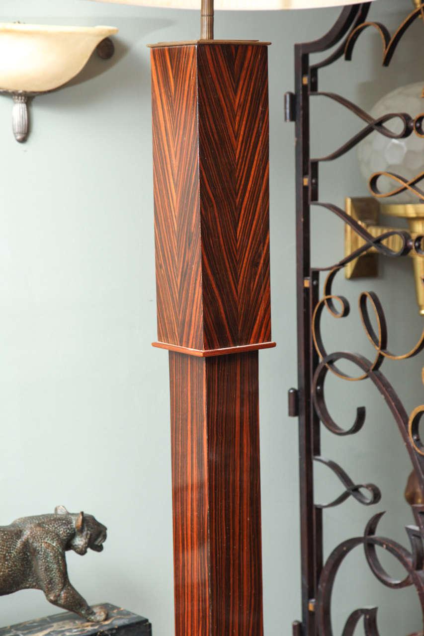 Pair of Tall Art Deco Macassar Torcheres For Sale 3