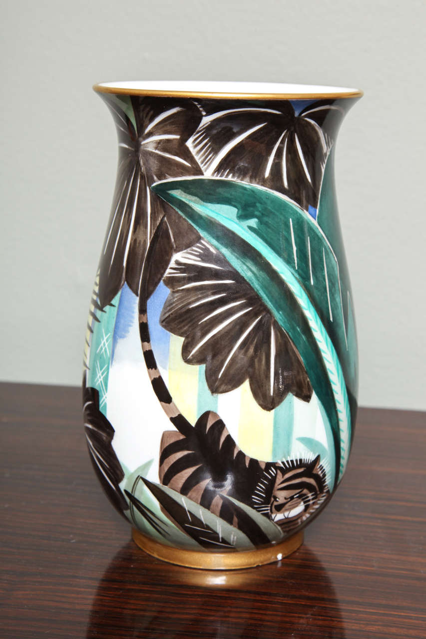 Art Deco Porcelain Vase by Robert Bonfils 2