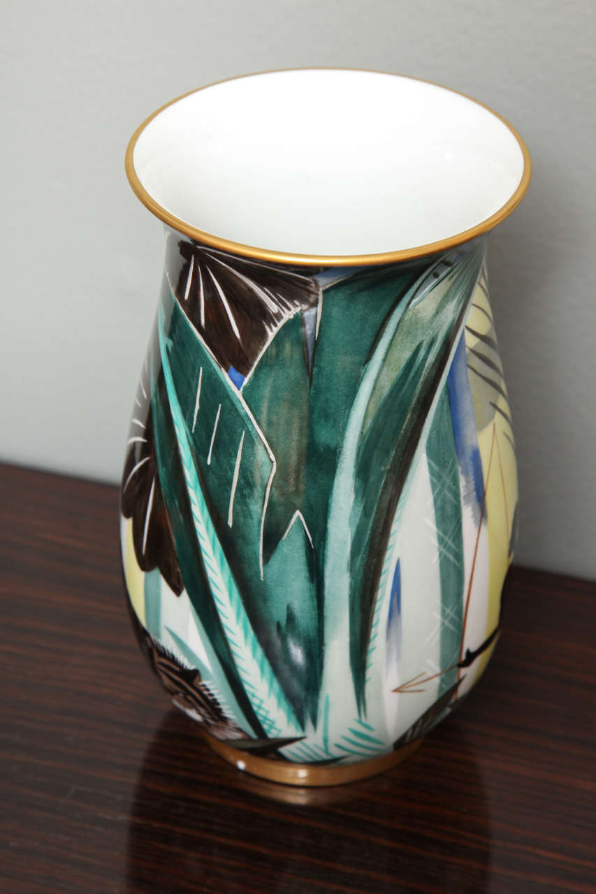 Art Deco Porcelain Vase by Robert Bonfils 4
