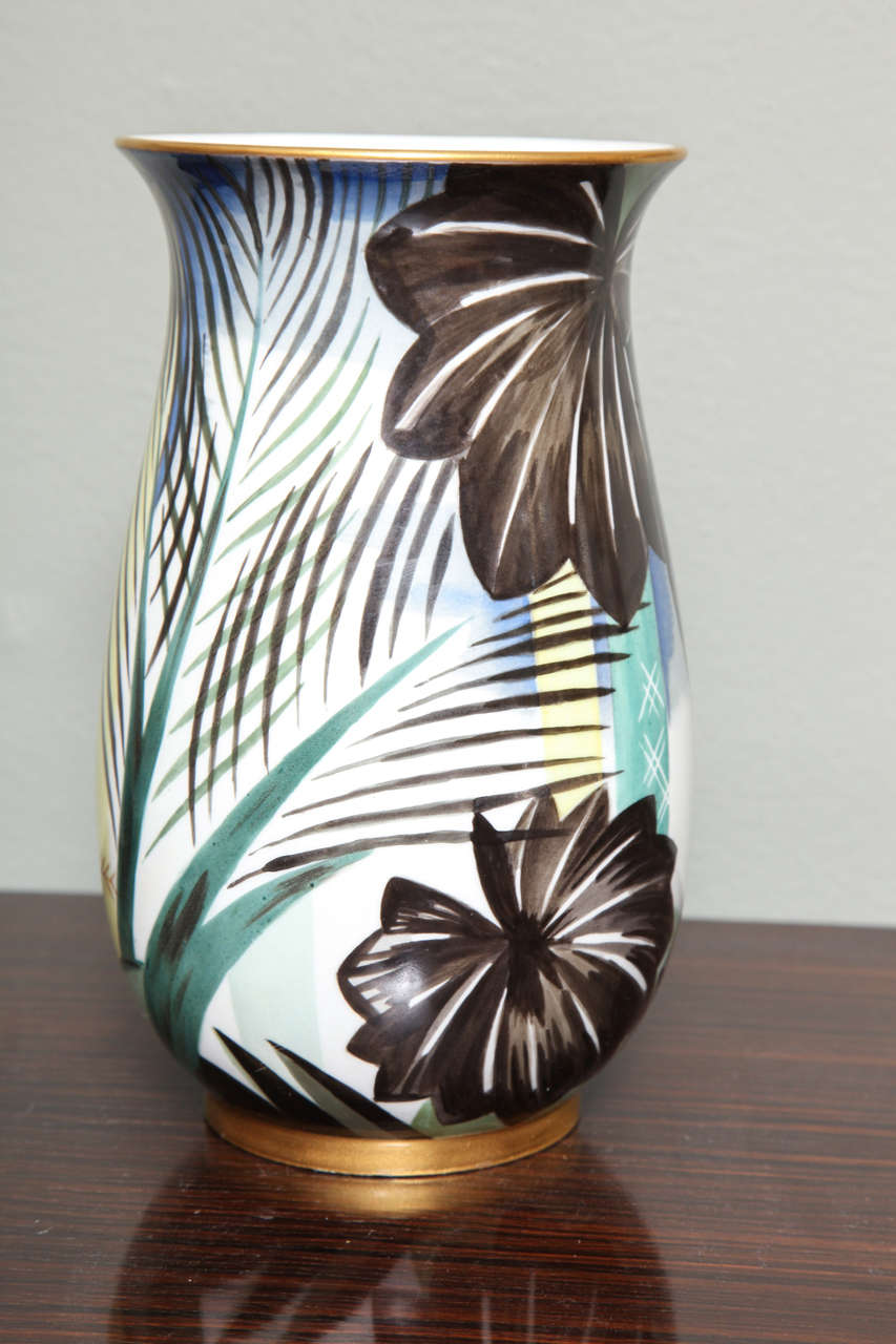 Art Deco Porcelain Vase by Robert Bonfils 6