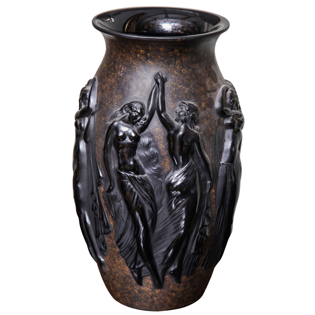 art deco vase by sabino for sale at 1stdibs. Black Bedroom Furniture Sets. Home Design Ideas