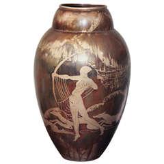 Art Deco Dinanderie Vase by Mergier
