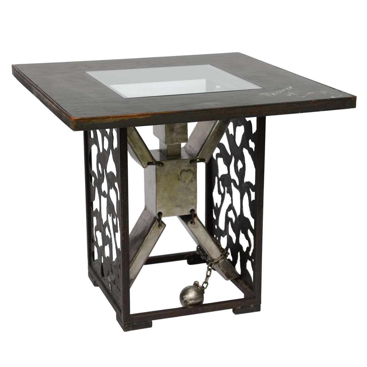 Dining or Center Table- Ronn Jaffe Ltd. Edition Design 'Survival' Functional Art