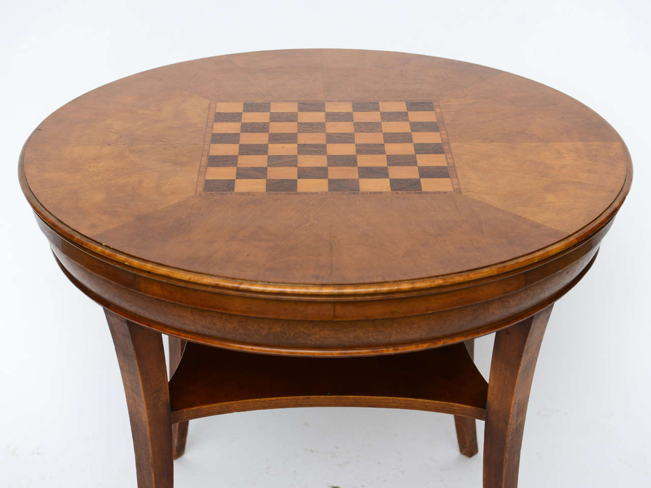 19th c rare american game side table hidden fold out