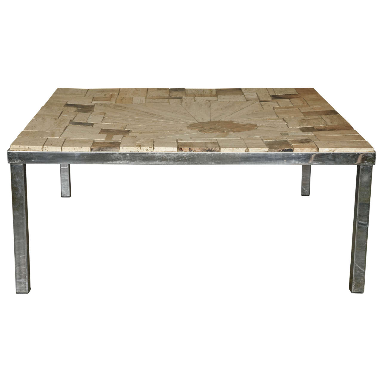 Coffee Table In Travertine Patchwork At 1stdibs