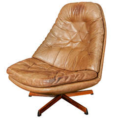 Lounge Swivel Armchair by Berg Furniture ca.1970