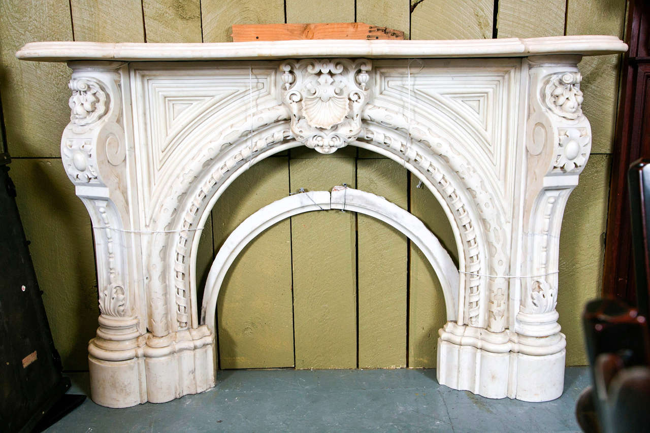 Victorian marble fireplace mantel for sale at 1stdibs for Marble mantels for sale