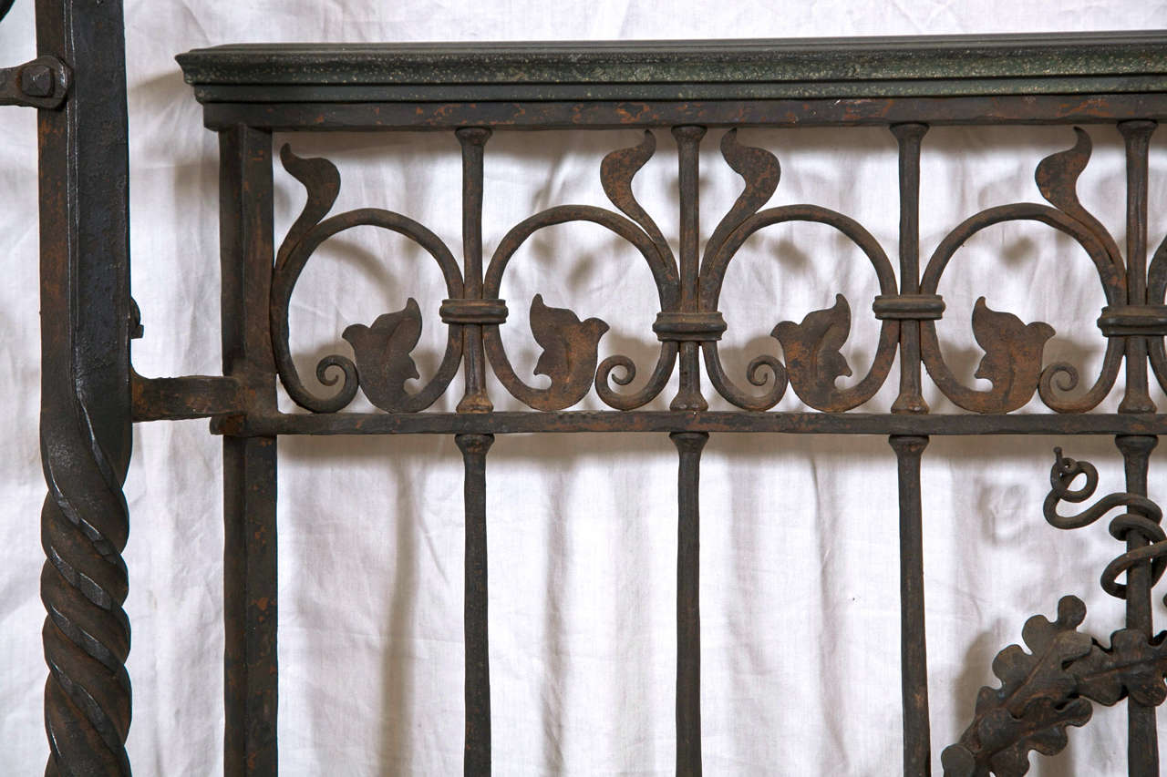 American Antique Wrought iron Gates and Panels-Acorn Pattern For Sale