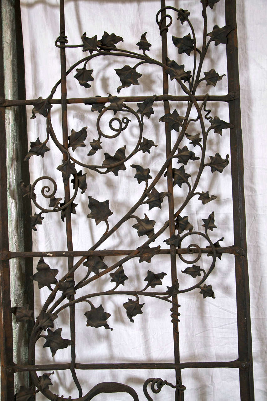 Antique Wrought iron Gates and Panels-Acorn Pattern For Sale 1