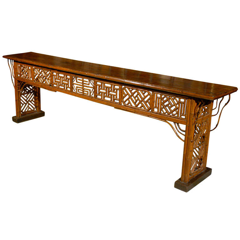 Narrow Console Table : Long Narrow Chinese Console Table, Ca. 1880 at 1stdibs