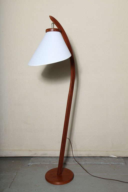 danish mid century modern teakwood floor lamp at 1stdibs. Black Bedroom Furniture Sets. Home Design Ideas