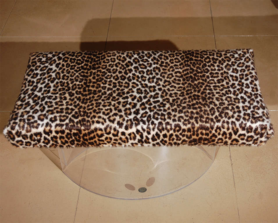 Lucite bench with leopard upholstery for sale at 1stdibs Leopard print bench