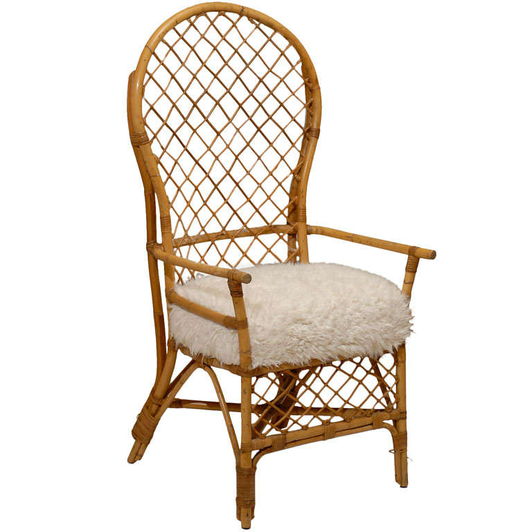 High Back Rattan Arm Chairs At 1stdibs