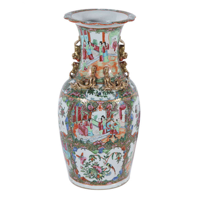 Chinese Famille Rose Medallion Vase At 1stdibs