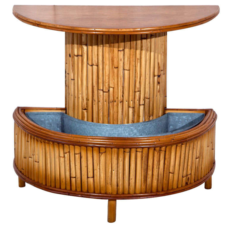 Bamboo Planter Half Round Table For Sale At 1stdibs