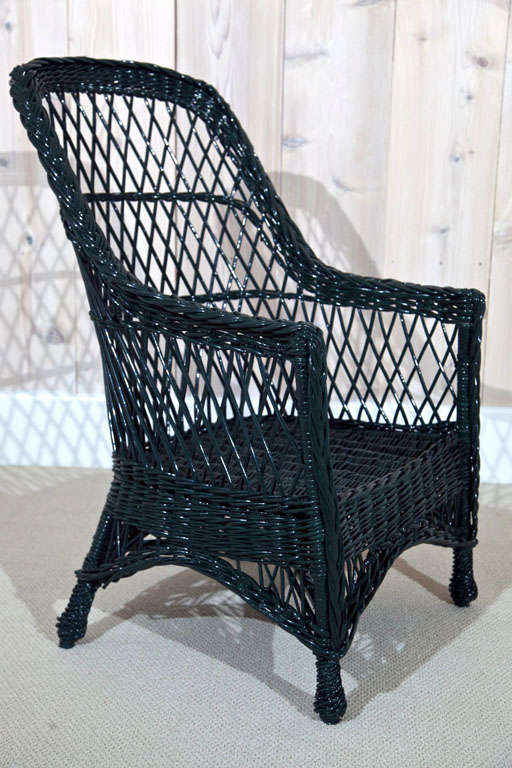 Willow Craft Wicker Chairs At 1stdibs