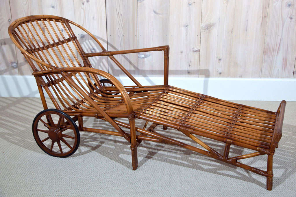 stick wicker chaise at 1stdibs. Black Bedroom Furniture Sets. Home Design Ideas