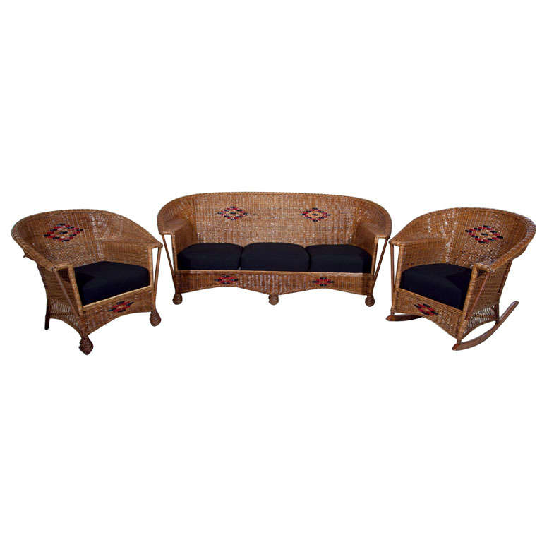 Deco Wicker Set