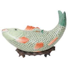 Whimsical Vintage Maitland-Smith Fish Form Tureen