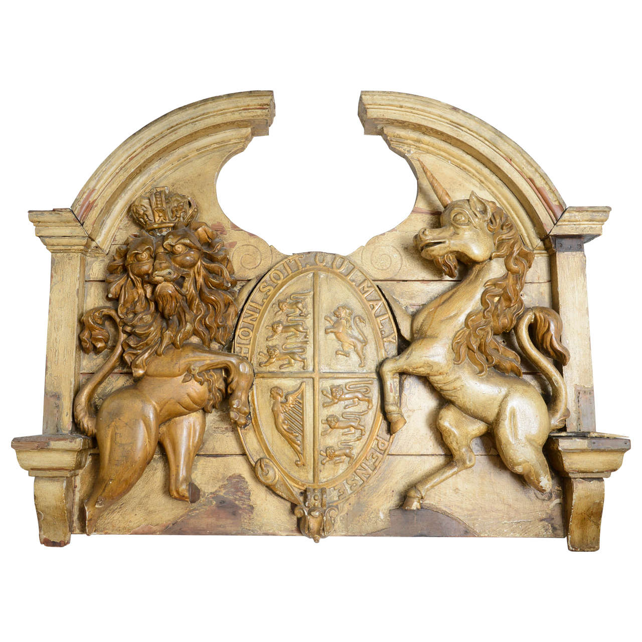 Large English 19th Century Armorial Coat Of Arms For Sale At 1stdibs