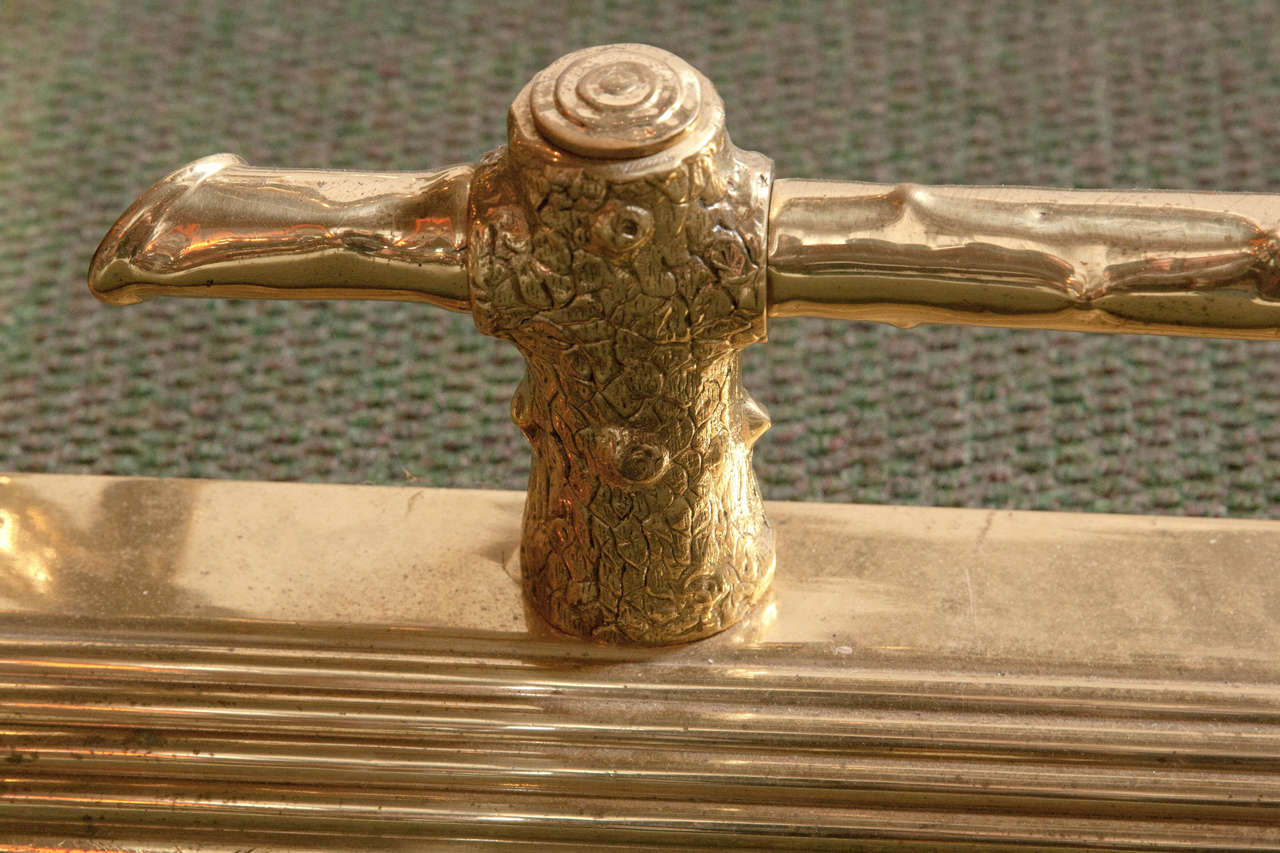 English Brass Fireplace Fender For Sale 2