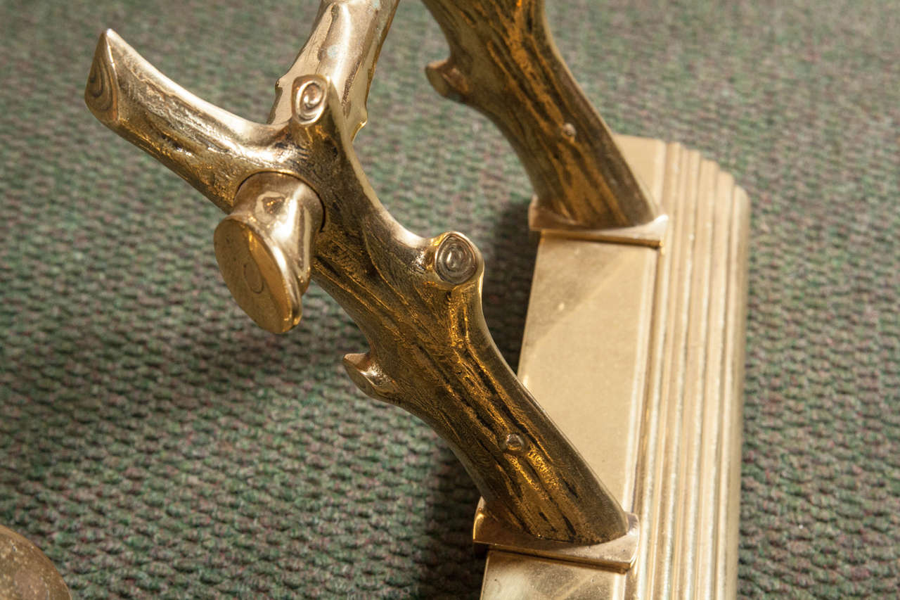 English Brass Fireplace Fender For Sale 3
