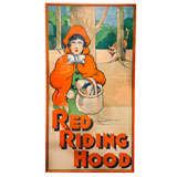 Large Scale 1920's Custom Framed Red Riding Hood Theatre Poster