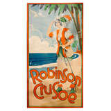 Large Scale 1920's Custom Framed Theatre Poster