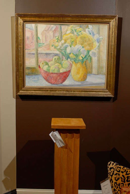 Oil on canvas, signed Paula Gradom. A well-known Belgian artist, Gradom studied at the Academy of Antwerp under Albert Servaes.