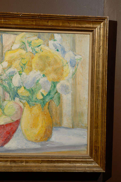 Fruit on Table, signed Paula Gradom In Excellent Condition For Sale In Atlanta, GA