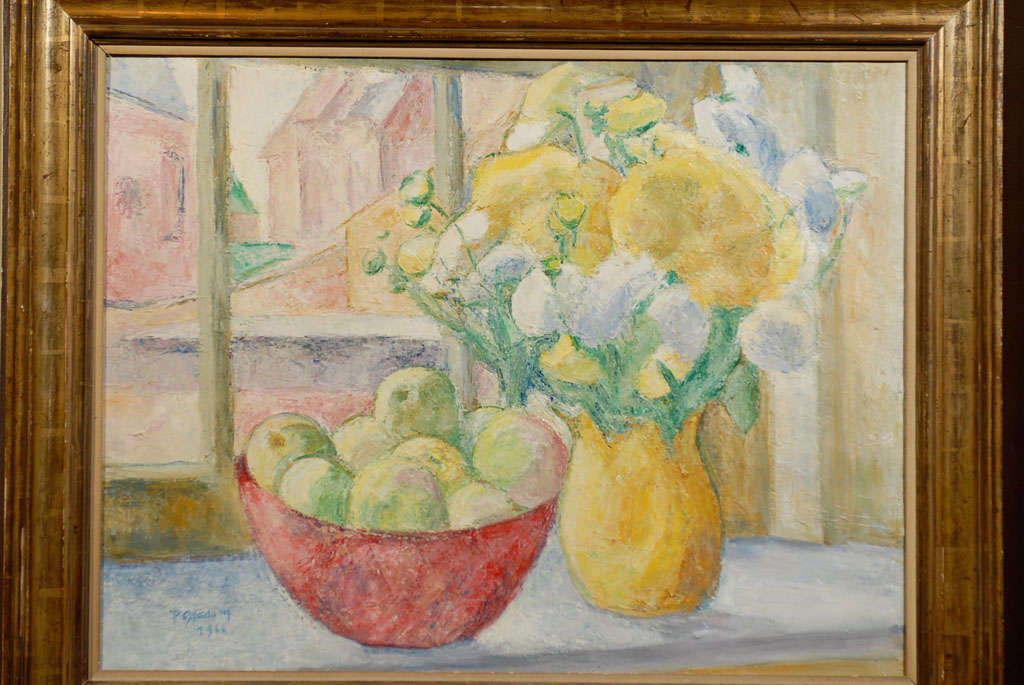 Mid-20th Century Fruit on Table, signed Paula Gradom For Sale