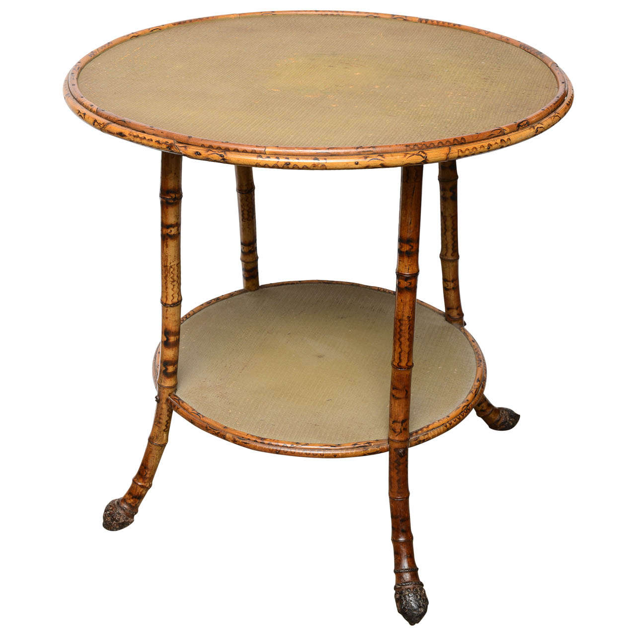 19th century english round bamboo table at 1stdibs for Bamboo side table